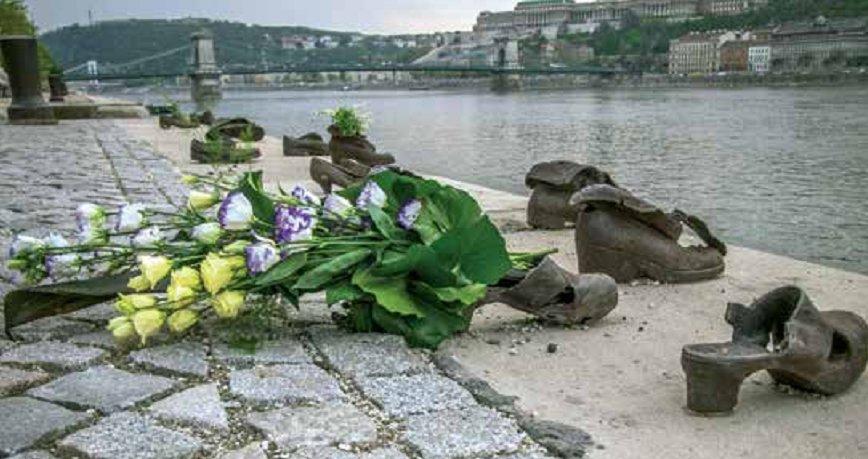 Budapest Holocaust Memorial on the Danube River